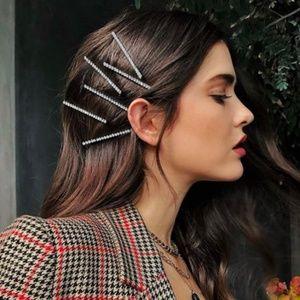Zara 5 pieces shiny long hairpins hair clip